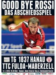 Plakat zum Abschiedsspiel Jörg Roßkopf