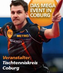 Timo Boll startet in Coburg