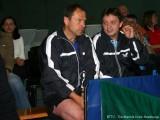 Milan Orlowski und Jindrich Pansky vor der Tischtennisshow