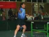 Jindrich Pansky schmettert erneut den Tischtennisball