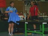 Zwei Tischtennisstars nach getaner Arbeit