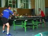 Milan Orlowski und Alexander Burkard bei der Tischtennisshow