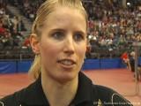 Kristin Silbereisen im Interview bei der Tischtennis deutsche Meisterschaft 2010