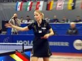 Kristin Silbereisen nach dem Finale bei der Tischtennis deutsche Meisterschaft 2010