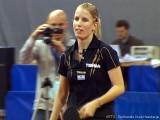Kristin Silbereisen freut sich bei der Tischtennis deutsche Meisterschaft 2010