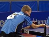 Patrick Baum beim Aufschlag bei der Tischtennis deutsche Meisterschaft 2010