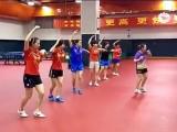 Gangnam-Style durch Chinas Damen Tischtennis B-Kader