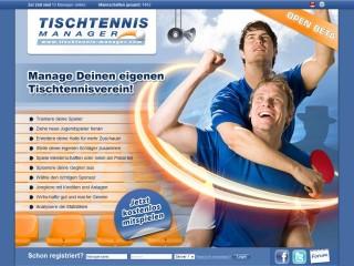 Tischtennis-Manager: neues Browsergame