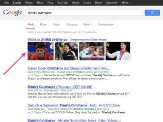 Dimitrij Ovtcharov in der Bildersuche von Google