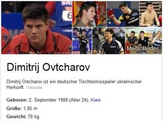 Dimitrij Ovtcharov in der Googlesuche
